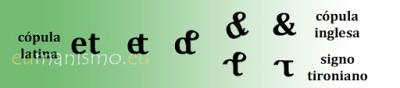 Imagen sobre el signo tironiano tomado de la web Eumanismo.eu