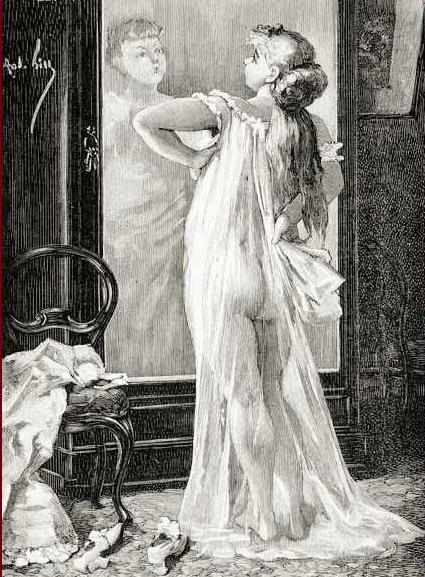 Nana ante el espejo, Georges Bellenger.