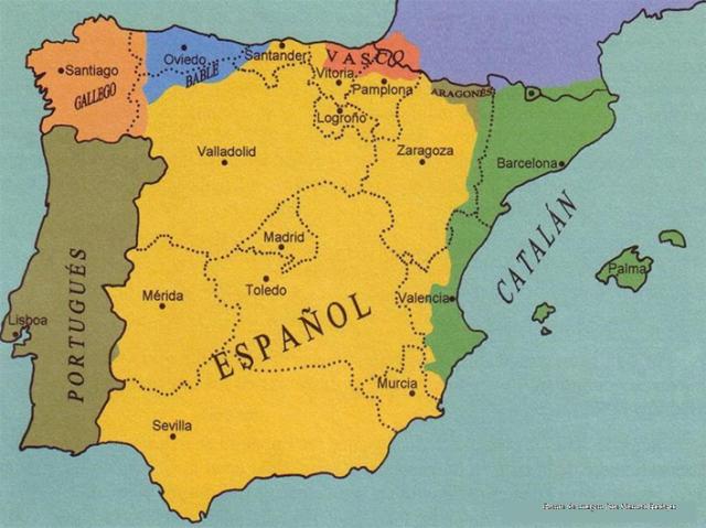 Mapa de lenguas de España