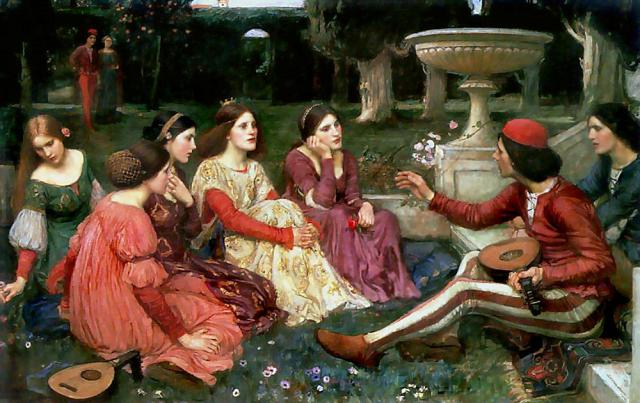 John William Waterhouse, A Tale from Decameron, 1916.